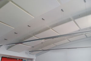 Hove Junior School ceilings and LED lighting system by Parker Ceilings