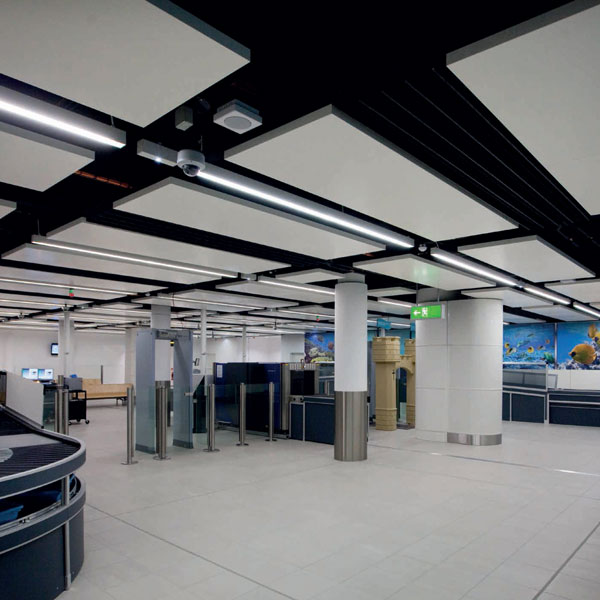 Gatwick Airport South Terminal ceilings by Parker Ceilings